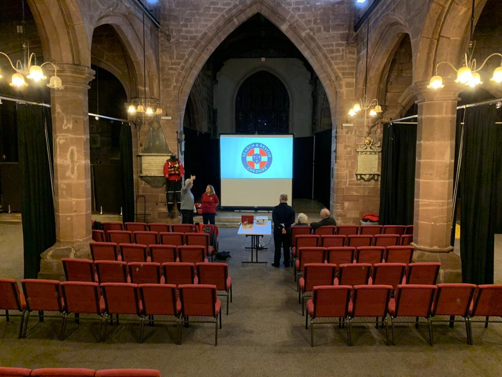 Preparing to talk to Chester Lecture Society